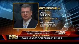 Digicel CEO Colm Delves interviewed by Fox News