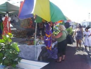 Tourists patronizing local vendors