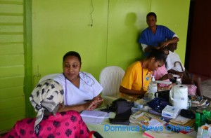 Nurses at work in Dominica