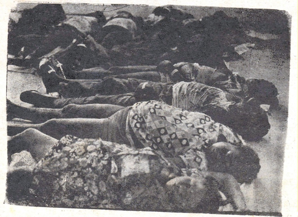 Battered bodies from Morne Prosper accident at Red Cross Headquarters, 22 May 1975. (Photo from New Chronicle, 24 May 1975)..jpgBattered bodies from Morne Prosper accident at Red Cross Headquarters, 22 May 1975. (Photo from New Chronicle, 24 May 1975)