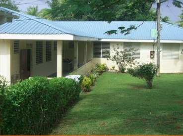 File photo of the Marigot Hospital which was originally shut down in 2014 due to termite infestation