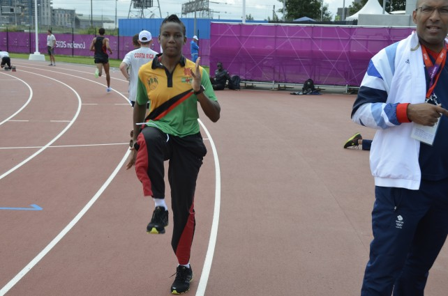 Gabriel represented Dominica the London Olympics in 2012. File photo