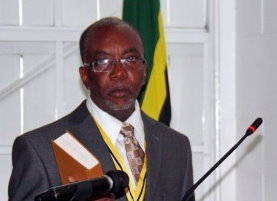 The term of current President Eliud Williams ends in October