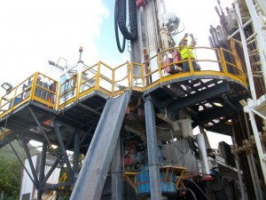 Geothermal drilling equipment in Dominica