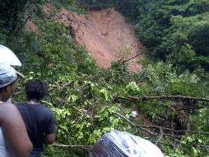 Thirty landslides reported across Dominica