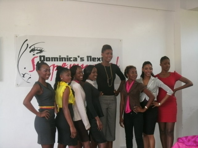Some of the models at Friday's launch. Two could not attend