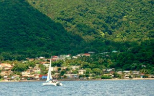 Dominica is not known as a traditional 'sand, sun and  sea' destination. Here is a section of Soufriere in the south