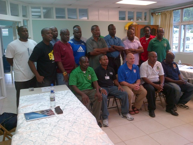 Football officials, and coaches who attended training .
