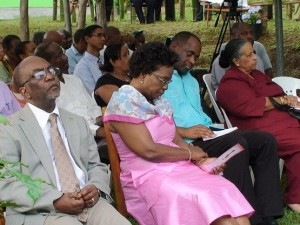 Officials at the official opening of the Giraudel/Eggleston Flower Show on Thursday