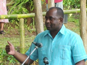 PM Skerrit addressing the opening ceremony of the Flower Show