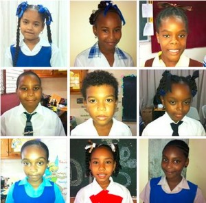 Nine of the ten finalist in the reading competition