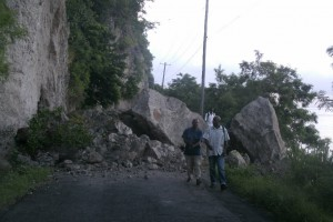 UPDATE: Major landslide near Pointe Michel