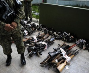 Weapons to be destroyed in the El Salvador  under a program similar to the one in Dominica