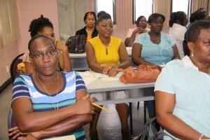 Nurses at the workshop on Monday