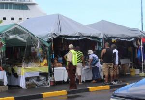 A vendor booth on Thursday morning