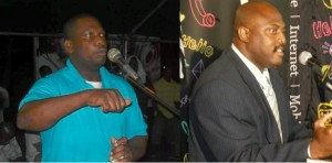 Joseph (left) plans to take on Douglas (right) in the next general elections