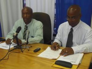 John and Lugay at Tuesday's press conference