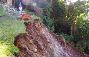 Landslide on Waitukubuli National Trail