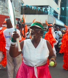 Ma Blanc at the opening parade of Carnival 2014
