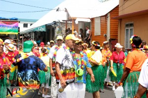 A scene from Carnival Tuesday in Roseau