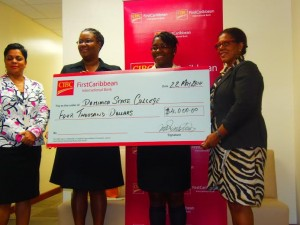 The check was presented at the bank's office on Thursday