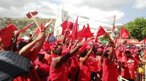 Section of the rally on Monday