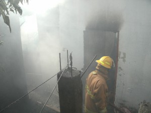 Two buildings were destroyed by the flames of a fire at Loubiere