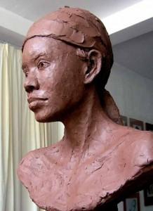 One of Burnett's sculptures