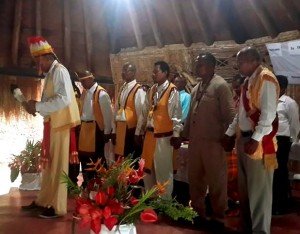 The Kalinago Council and Chief were formally installed at the ceremony