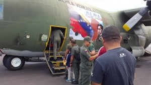 Venezuelan soldiers returning home last year after assisting in the construction of a coffee plant in Dominica