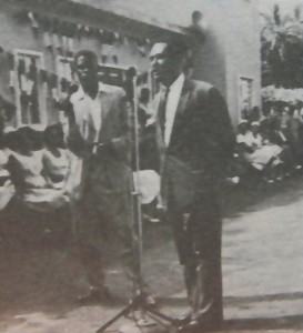 Chief minister Le Blanc opening the airport in 1961. Photo credit: Dr. Lennox Honychurch