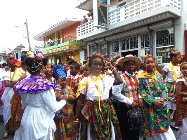 Students in Creole Wear in Roseau