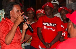 Daniel (left) said she has many plans for the Colihaut constituency. Photo by DLP