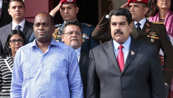 The Prime Minister at the ALBA summit with Venezuela President Nicolas Maduro