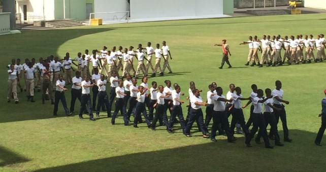 The Cadets in parade on Saturday