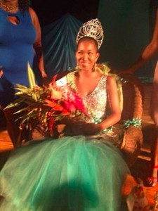 Moore is the first ever Miss Green Gala