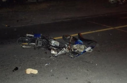 A motorcycle involved in an accident in Goodwill earlier this year