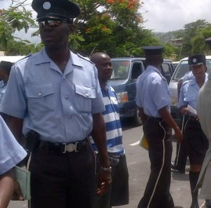 Police officers in Dominica