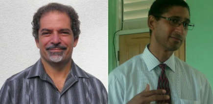 Both Nassief (left) and Piper are welcoming a possible increase in the marketing budget for Dominica