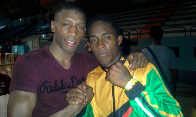 Letham (right) defeated his Martinique opponent (left) on Thursday night
