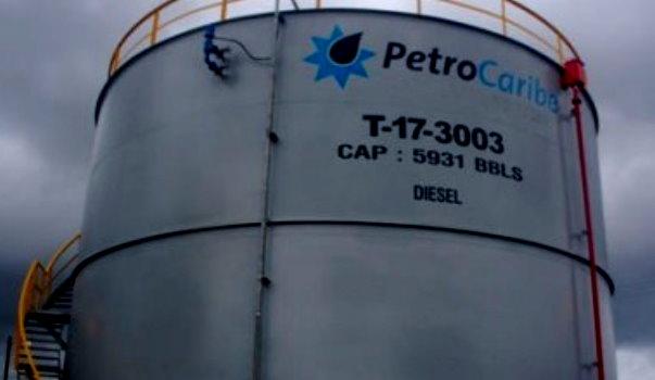 A PetroCaribe storage tank in Dominica