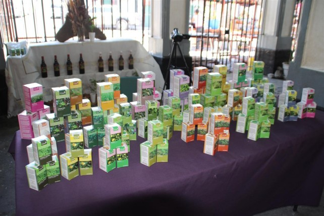 Some of the local herbal products on display
