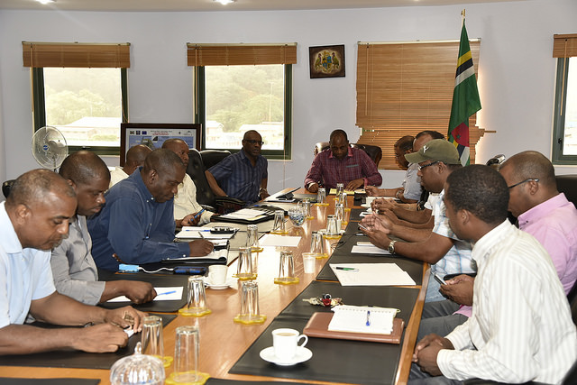 PM Skerrit meets with parliamentarians