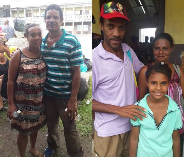 Evacuees from Petite Savanne at the Dominica Grammar School