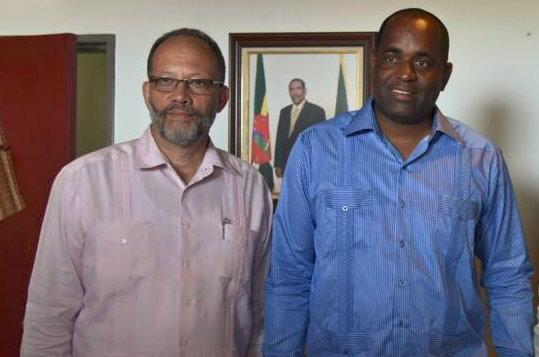 PM Skerrit with CARICOM SG Irwin LaRocque