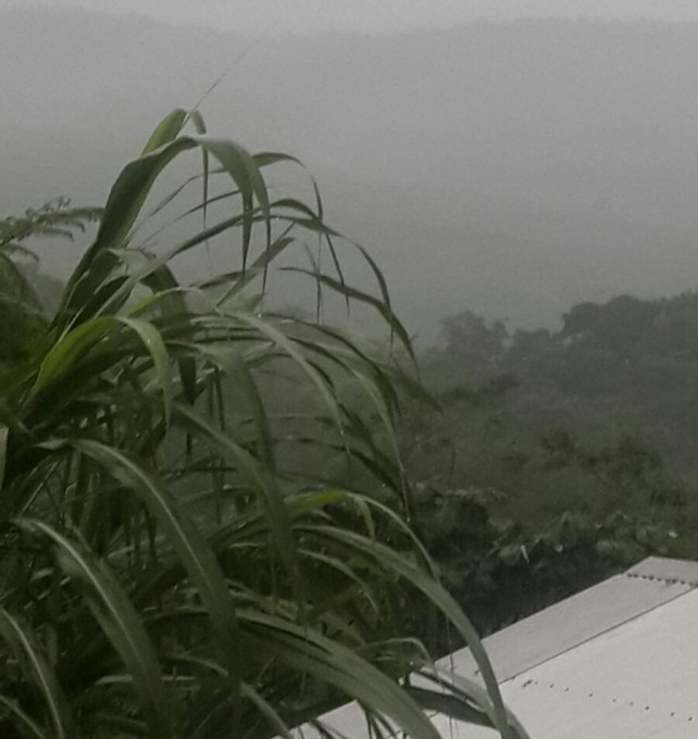 Heavy rains continue in Dominica on Tuesday
