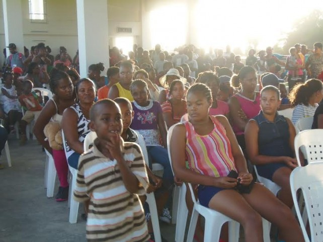 Some of the students who attended Monday's function