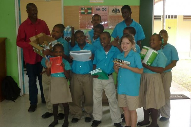 The donation was handed out to the students on Thursday