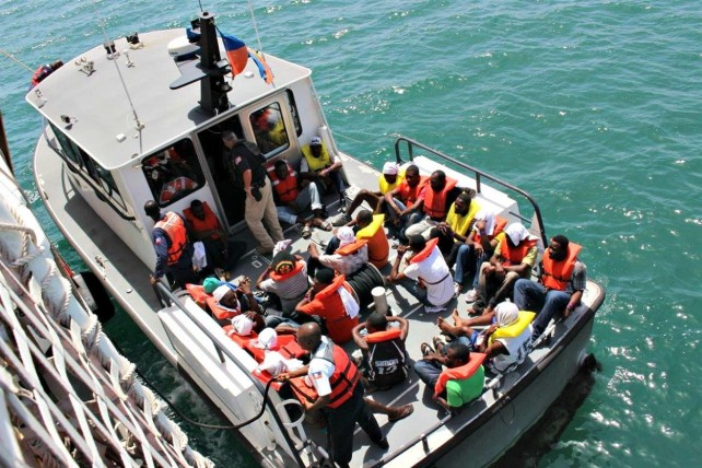 The boat with the Haitians was intercepted by the US Coast Guard. Photo: Virgin Island Consortium