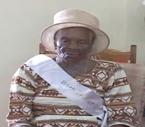 'Mama Tin' is Dominica's newest centenarian. Photo by GIS